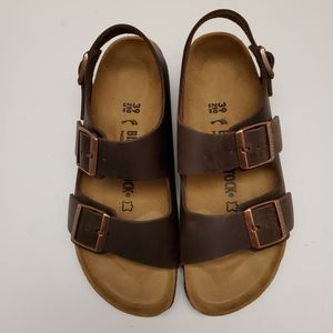 Birkenstock Milano Habana Leather Sandals